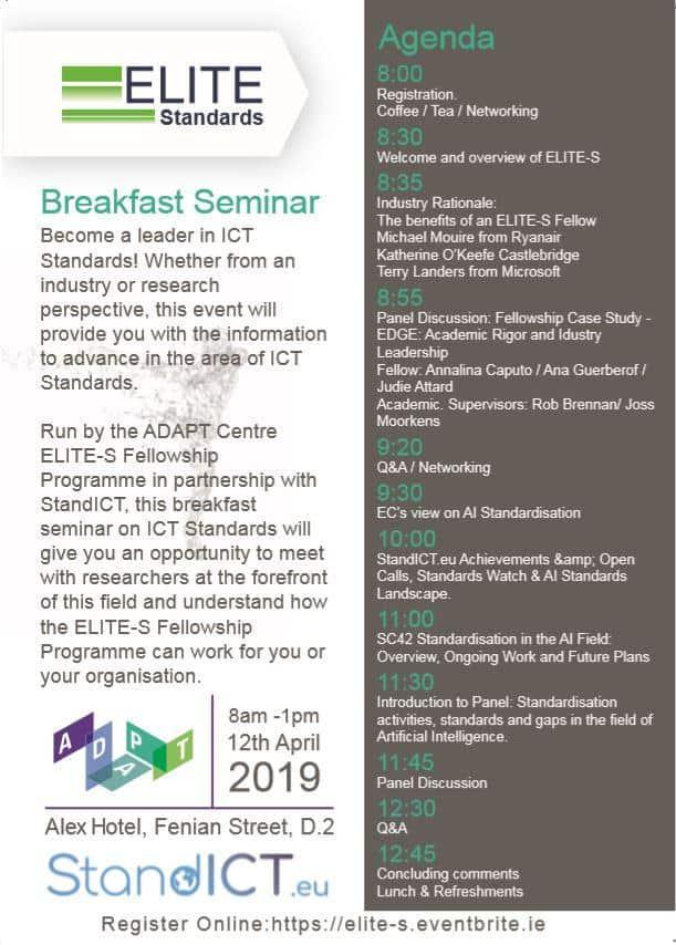 Invitation ELITE Breakfast Seminar